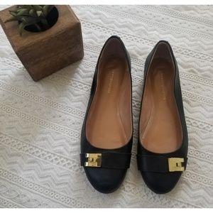 Tommy Hilfiger Black Flats Size 8 1/2